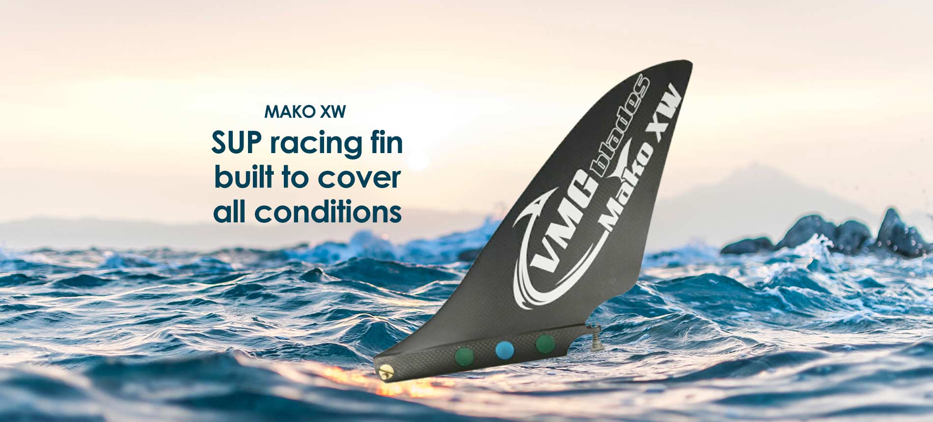 Mako XW SUP Fin by VMG blades